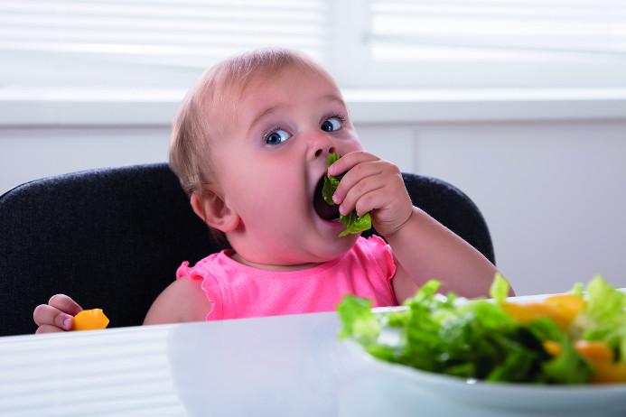 Barnen ska peta i maten