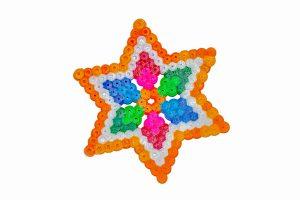 Pärlplatta i form av en stjärna
