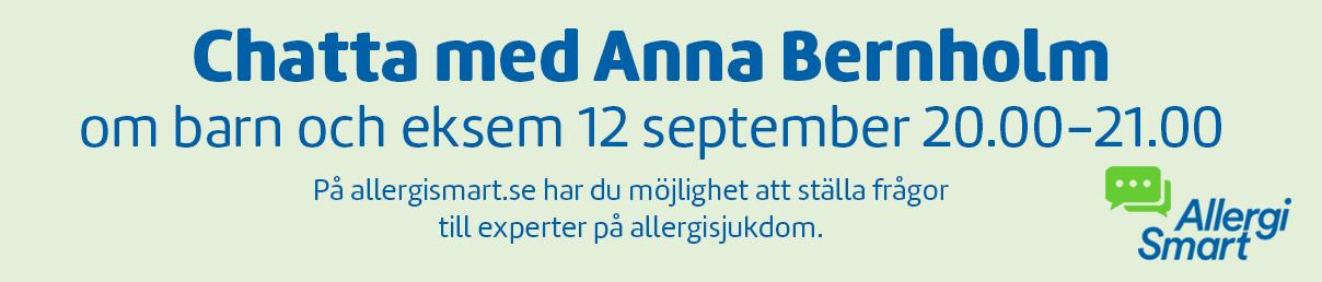 Chatta med Anna Bernholm 12 september