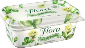 Förpackning Flora växtbaserad smörgåsmargarin