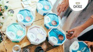 Flera burkar glass av märket Choice